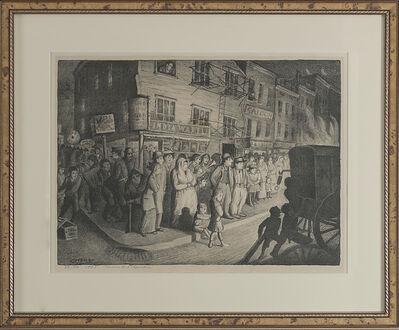 """Glenn O. Coleman, '""""Bonfire""""', 1928"""