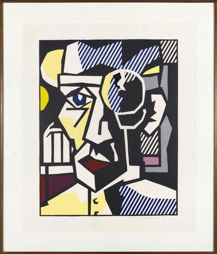 Roy Lichtenstein, 'Dr Waldman, from Expressionist Woodcut Series ', 1980