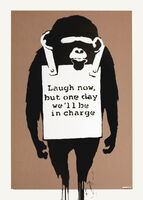 Banksy, 'Laugh Now (Signed screen print)', 2004