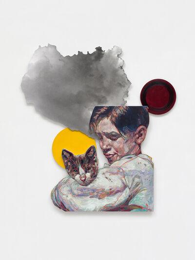 Hung Liu 刘虹, 'Homeless Cat with Boy', 2020