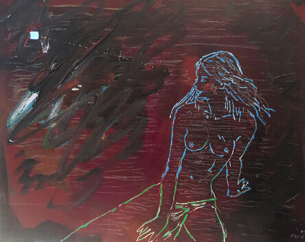 Nam June Paik, 'Untitled (Naked Woman Watching TV)', 1991