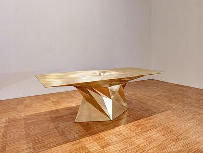 Zhoujie Zhang, 'Brass Tornado Table (SQN7-T)', 2014