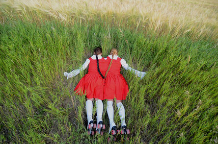 Amalie Atkins, 'Two Headed Sister Lying Facedown in a Ditch', 2013