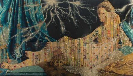 Zevs, 'Illaminated Jean Auguste Dominique Ingres, Grand Odalisque ', 2015