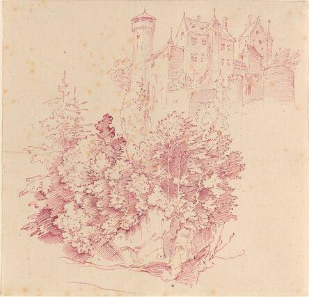 Moritz von Schwind, 'Fortified Castle on a High Cliff', ca. 1830