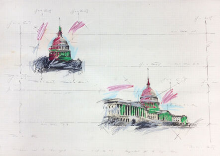Grover Mouton, 'United States Capitol Dome Study #1'