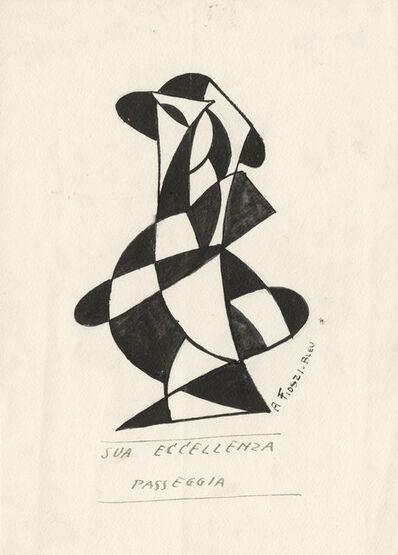 Aldo Fiozzi, 'His Excellency Walks (Sua Eccellenza Passeggia)', 1920