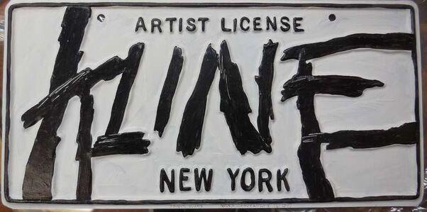 Greg Constantine, 'Franz Kline Artist License Plate, Pop Art', 1980-1989