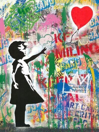 Mr. Brainwash, 'Balloon Girl (Keep Smiling)', 2020