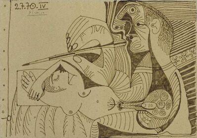 Pablo Picasso, 'Le peintre et son modèle IV', 1970