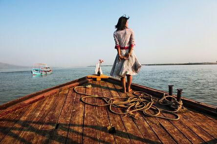 Steve McCurry, 'Girl on Ship Prow'