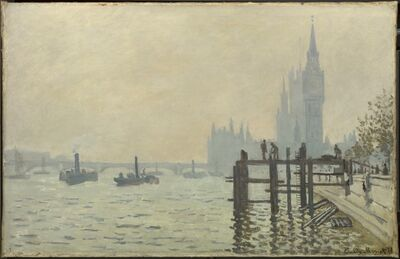 Claude Monet, 'The Thames below Westminster', about 1871