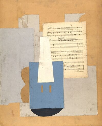 Pablo Picasso, 'Violin with sheet of music', Autumn-1912