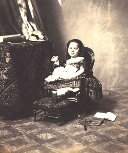André Adolphe-Eugené Disdéri, 'Young Girl and Toys', 1860c/1860c