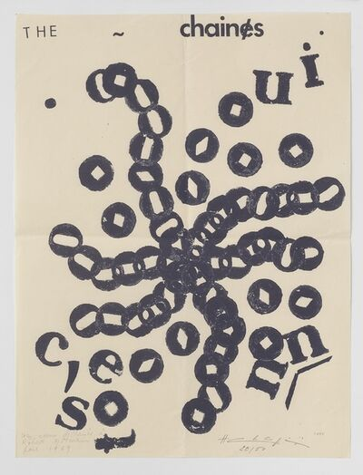 Henri Chopin, 'The Chaines', 1969