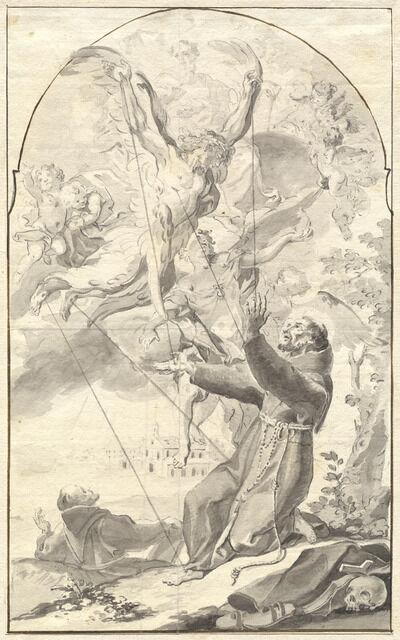 Johan Baptist Enzenberger, 'The Stigmatization of Saint Francis', 1760s