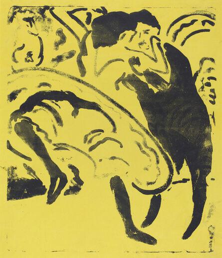Ernst Ludwig Kirchner, 'Dancing Couple (Tanzpaar)', 1909