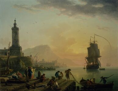 Claude-Joseph Vernet, 'A Calm at a Mediterranean Port', 1770