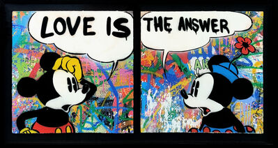 Mr. Brainwash, 'LOVE IS THE ANSWER DIPTYCH (MICKEY & MINNIE MOUSE)', 2016