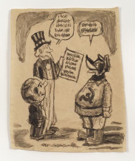James Castle, 'Untitled (Cartoon, Uncle Sam)', n.d.