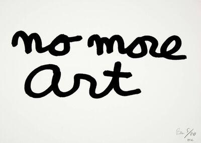 Ben Vautier, 'no more art', 1990