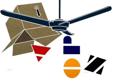 Emilio Tadini, 'Blade and Letters', ca. 1970