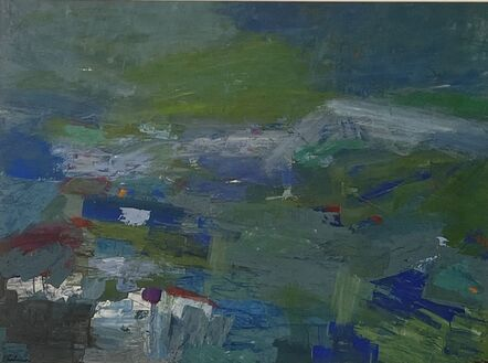 Morris Shulman, 'Abstraction in Green and Blue', ca. 1955