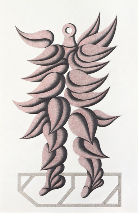 Roberto Aizenberg, 'Figure with feathers', 1986-1989