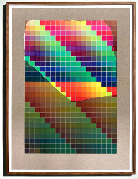 Analía Saban, 'Transcending Pigment from Paint to Canvas, from Canvas to Paint (Color) #1 No. VII', 2020