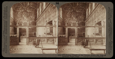 Bert Underwood, 'Sistine Chapel in the Vatican where the Pope is crowned', 1900