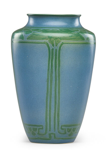 Margaret Cable, 'Fine large vase with stylized trees, Grand Forks, ND', 1917