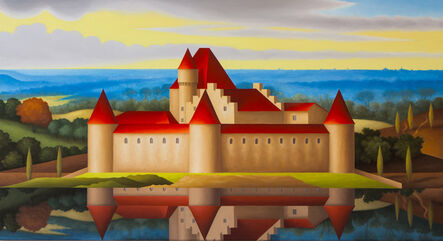 Renny Tait, 'Chateau d'Aigle in Landscape', 2021