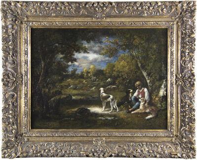 Narcisse Diaz de la Peña, 'Garçon aux trois chiens', 1876