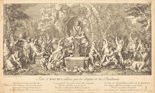 Claude Gillot, 'Feste de Bacchus, celebree par des Satyres et des Bacchantes (Feast of Bacchus Celeb rated by Satyrs and Bacchanales)'