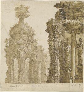 Ferdinando Galli Bibiena, 'Stage Design for Garden Pavilions', ca. 1711