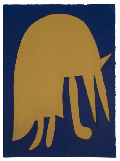 Julian Martin, 'Untitled (Abstracted Animal on Blue)', 2010