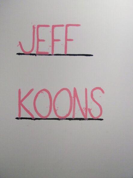 AGGTELEK, 'Jeff Koons', 2015