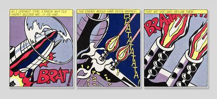 Roy Lichtenstein, 'As I Opened Fire (Triptych)', 1966