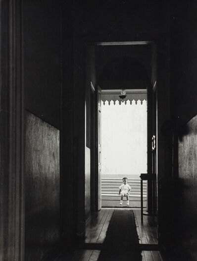German Lorca, 'Boy on the bench, 1955', vintage