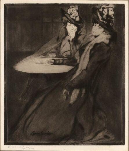 Edgar Chahine, 'La Terrasse (Tabanelli 26)', 1899
