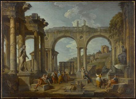 Giovanni Paolo Panini, 'A Capriccio of Roman Ruins with the Arch of Constantine', ca. 1755