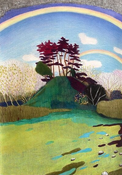 Per Adolfsen, 'Two Rainbows and Red Pines on a Small Hill', 2021