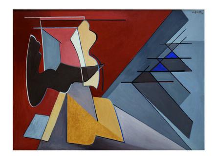 Alberto Magnelli, 'Contrastes violentés', 1956
