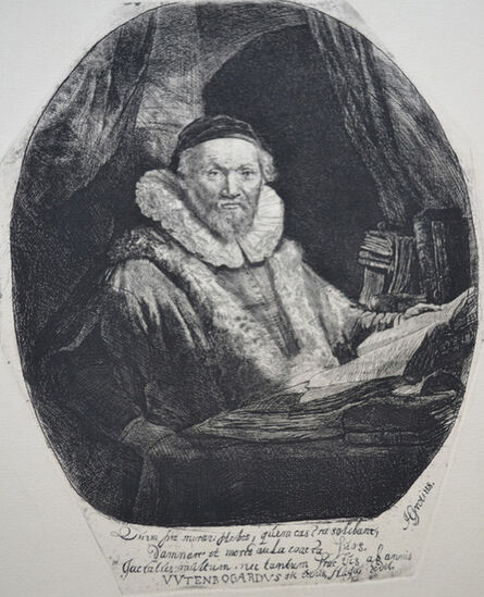 Rembrandt van Rijn, 'Jan Uytenbogaert, Preacher for the Remonstrants', Etched in 1635, Printed in 1906 (Beaumont, Paris)