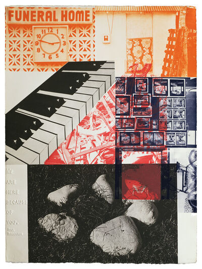 Robert Rauschenberg, 'American Pewter with Burroughs VI', 1981