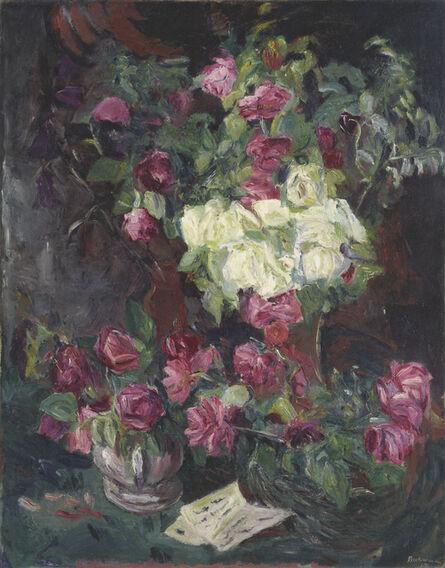 Max Beckmann, 'Stilleben mit Rosen', 1914