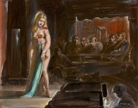 Reginald Marsh, 'Burlesque Queen', ca. 1930s-1940s