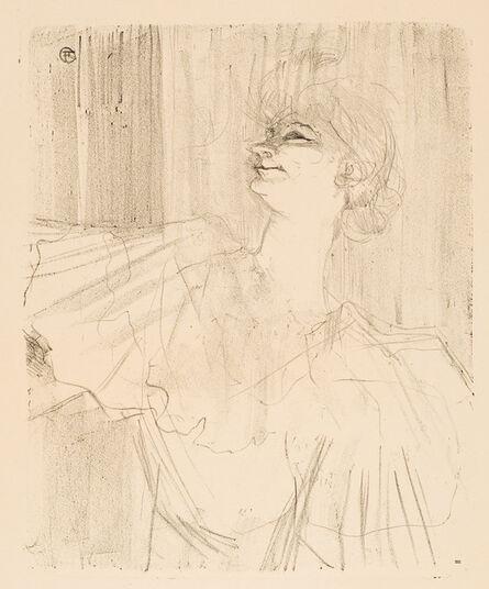 """Henri de Toulouse-Lautrec, 'YVETTE GUILBERT – """"A MÉNILMOTANT,"""" DE BRUANT (Yvette Guilbert – """"A Ménilmotant,"""" by Bruant)', 1898"""