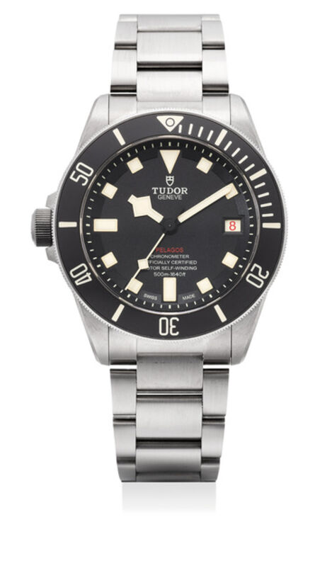 Tudor, 'A fine titanium and stainless steel diver's wristwatch with center seconds, date, left-handed crown, bracelet, guarantee and box', Circa 2018