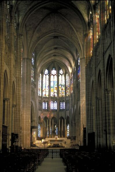 'Abbey Church of St. Denis (interior)', Begun 1140, 1144 (Completed ca. 1231, 1281)